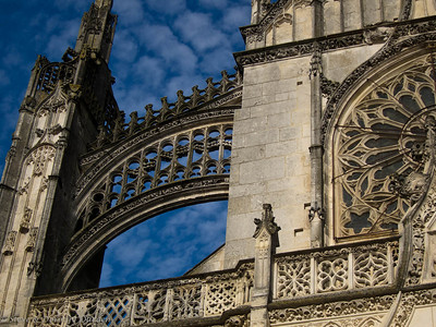 Ornate flying buttress