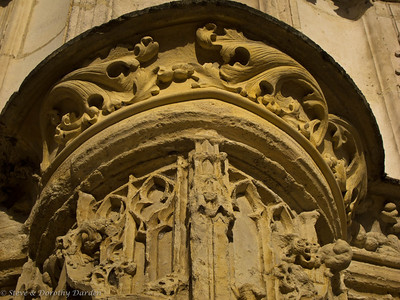 Carved stone acanthus leaves, perhaps