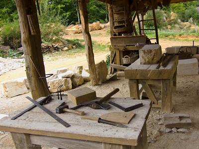 Stone masons' tools
