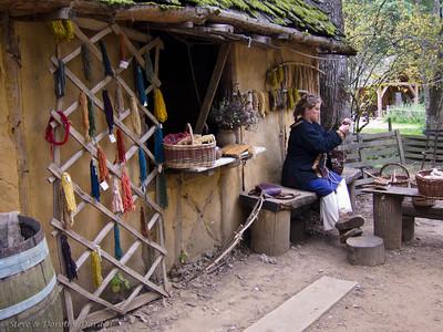 Wool dyer's hut
