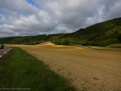 Autumn farm land