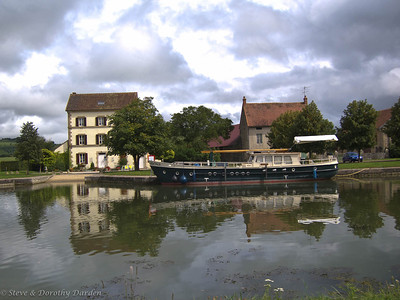 Barge on a canal