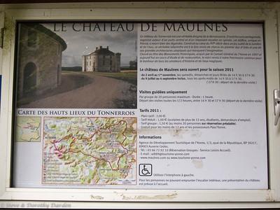 Chateau de Maulnes, east of Tanlay