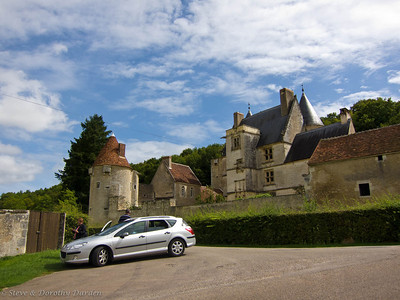 Country chateau with Adrian's car