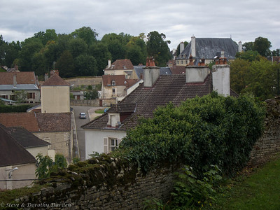 Roofs of the village of Chatillon-Sur-Seine, east of Auxerre