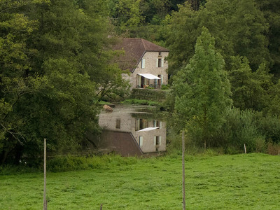 Adrian's mill at Jonvelle, reflected in the river Saone