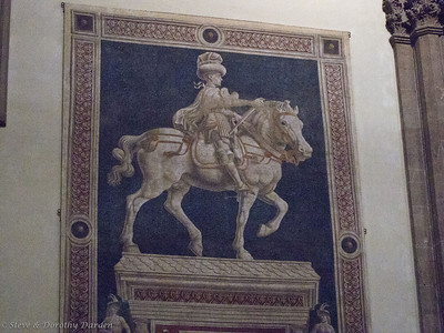 Horse and rider at Santa Croce Basilica