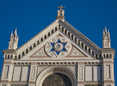 A Jewish architect Niccolo Matas designed the church's 19th century neo-Gothic facade, working a prominent Star of David into the composition.