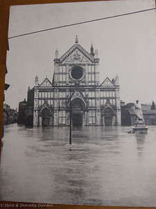 On November 4th, 1966, the Arno River flooded Florence and its environs. The entire Basilica of Santa Croce, was completely engulfed with the flood waters and sludge.