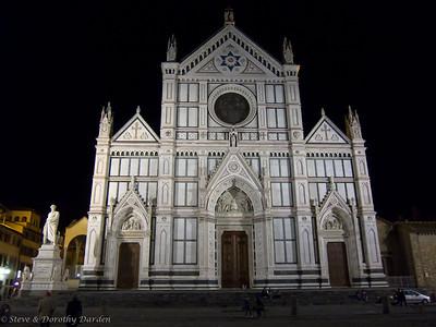 Basilica Santa Croce after dark