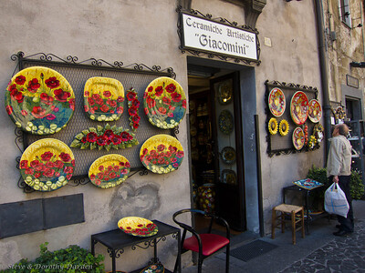 Pottery shop in Orvieto