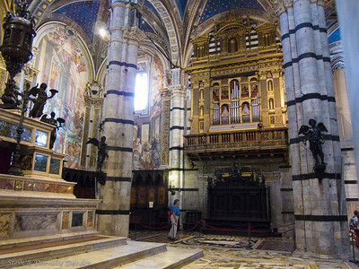 One of five organs in the Duomo in Siena