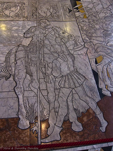 Stone illustration on the floor of the Duomo