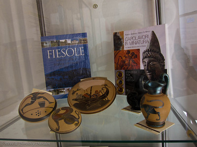We visited the archaeological site and museum in the town of Fiesole.