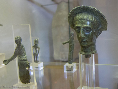 Roman or Etruscan stone carving found during excavations