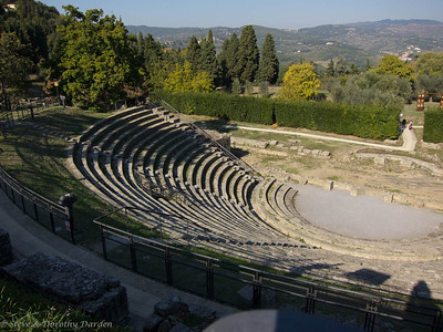 The Roman ampitheater was built into the side of the hill.