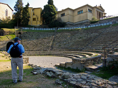 Steve and I were impressed by the quality of the stone work at the ampitheater.
