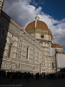 Brunelleschi's dome is 45 meters wide, the largest masonry dome ever built.