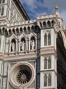 The facade of the Duomo