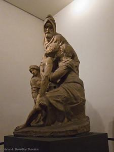 """Michangelo's sculpture  """"La Pieta'"""" in the Museo dell'Opera del Duomo (The Duomo Museum)"""