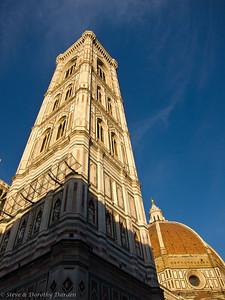 Giotto's Campanile and Brunelleschi's dome at the Duomo