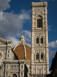 The facade of the Duomo, Brunelleschi's dome and Giotto's Campanile