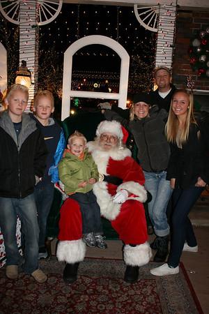 Morrill Family with Santa