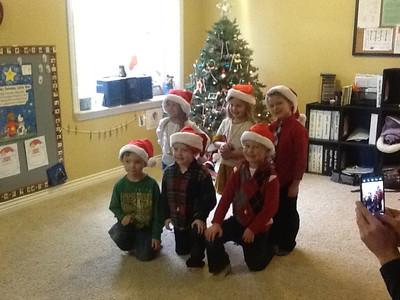Chase's Preschool Group ready to perform:  Adistyn, Pressley, Luke, Adam, Cade and Chase