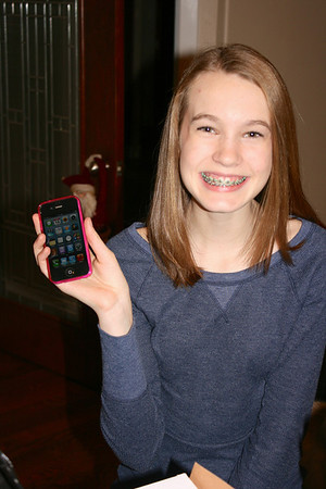 Most excited on her birthday to have an I-Phone
