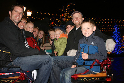 Loaded for our carriage ride to see all the lights of the Riverwoods