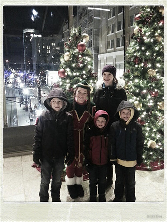 Cute Elf with even Cuter kids at City Creek!