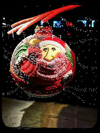 Amazing Santa ornament made completely of candy!