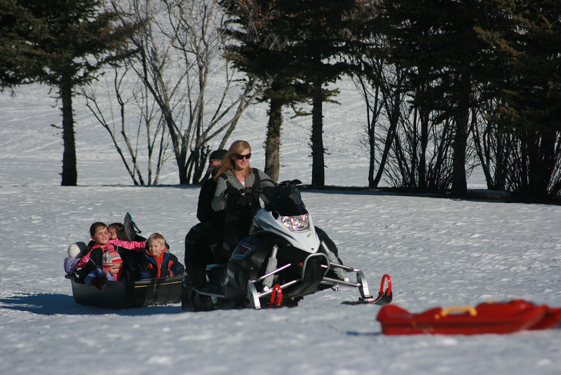I became the snowmobile driver--a job that I really enjoyed!