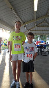 Emme and Ryan ran the 1 mile and both did well