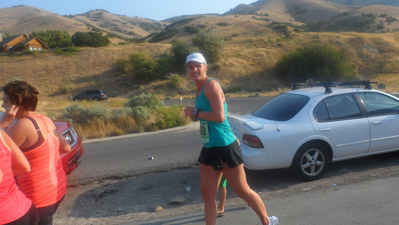 Hobblecreek Half--running on injured IT Band, not too fun, but still beat my first time of 1:56, finished at 1:49.