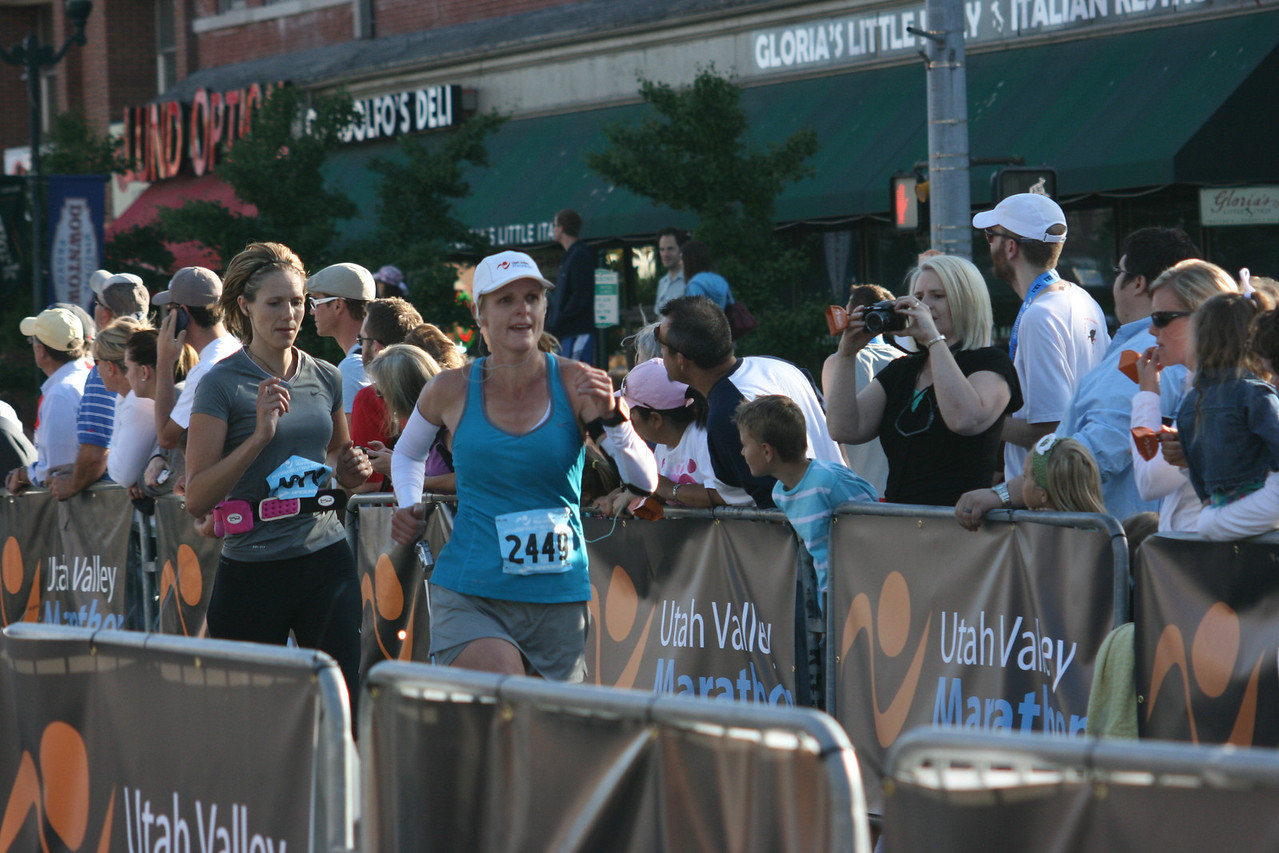 Finishing Utah Valley Half marathon strong!