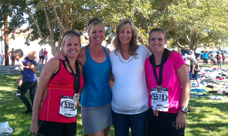 At St. George Marathon.  We went to cheer on Kathryn and AnnDee and I ran the last 7 miles with AnnDee to help her out!
