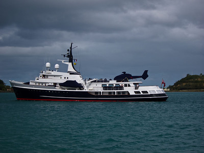 M/Y ITASKA arrives Noumea, berthing at Port de Sud