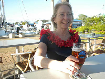 Biermeistress Margaret enjoyed a  tropical Pacific Island beer on her first day in New caledonia.