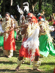 Dancers from the Loyalty Islands performed at the Tjibaou Cultural Centre.