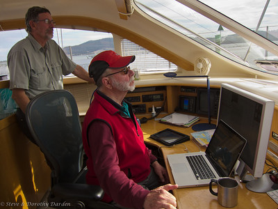 Steve and Gus navigating through Marion Narrows.