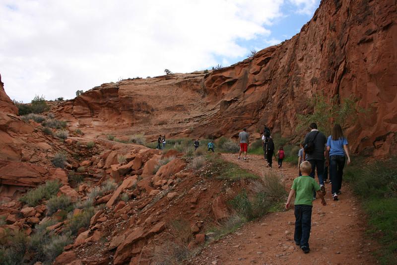 Moab Hike #1 to Corona Arch.
