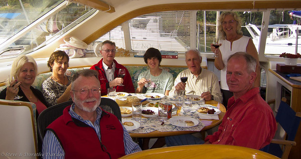 Dorothy's 71st birthday: , Steve, Rosemary, Nancy , Frank Moncrief, David Dyche, Jr, Commodore, Dorothy and David Dyche