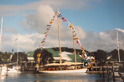 Schooner NINA berthed at Town Basin Marina