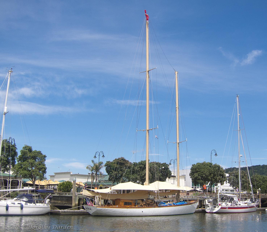 Schooner NINA berthed at Town Basin Marina