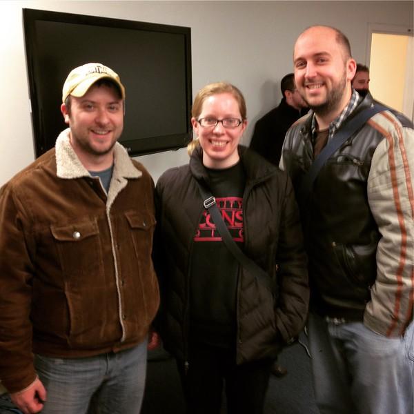Adam, Katie, and I at RCTV.