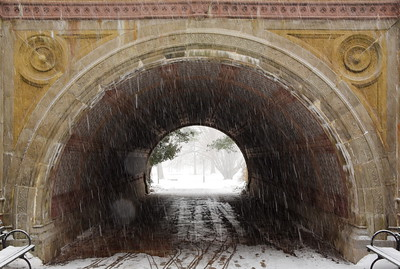 Snow Through the Cleft Ridge Span