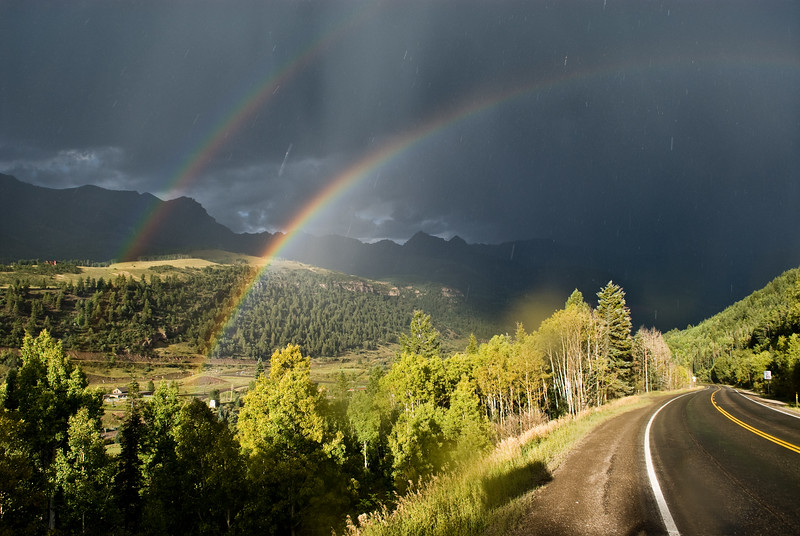 Double rainbow, Telluride, Colorado