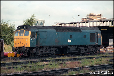 25191 is stabled at Saltley LIP (SY) on 05/08/1986.
