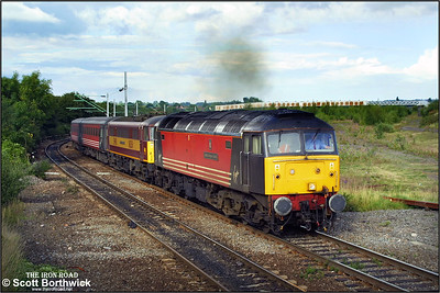 47849 'Bangor Cathedral' drags 86261 whilst working 1G33 1540 London Euston-Wolverhampton at Nuneaton Abbey Junction on 19/08/2001.